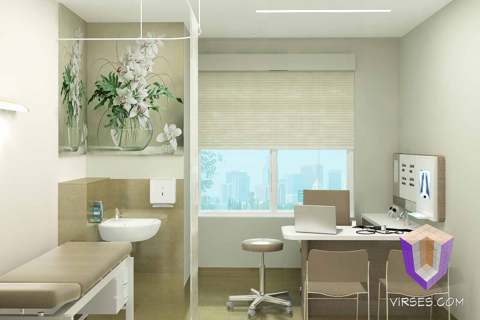 Consultant Room Architectural Rendering