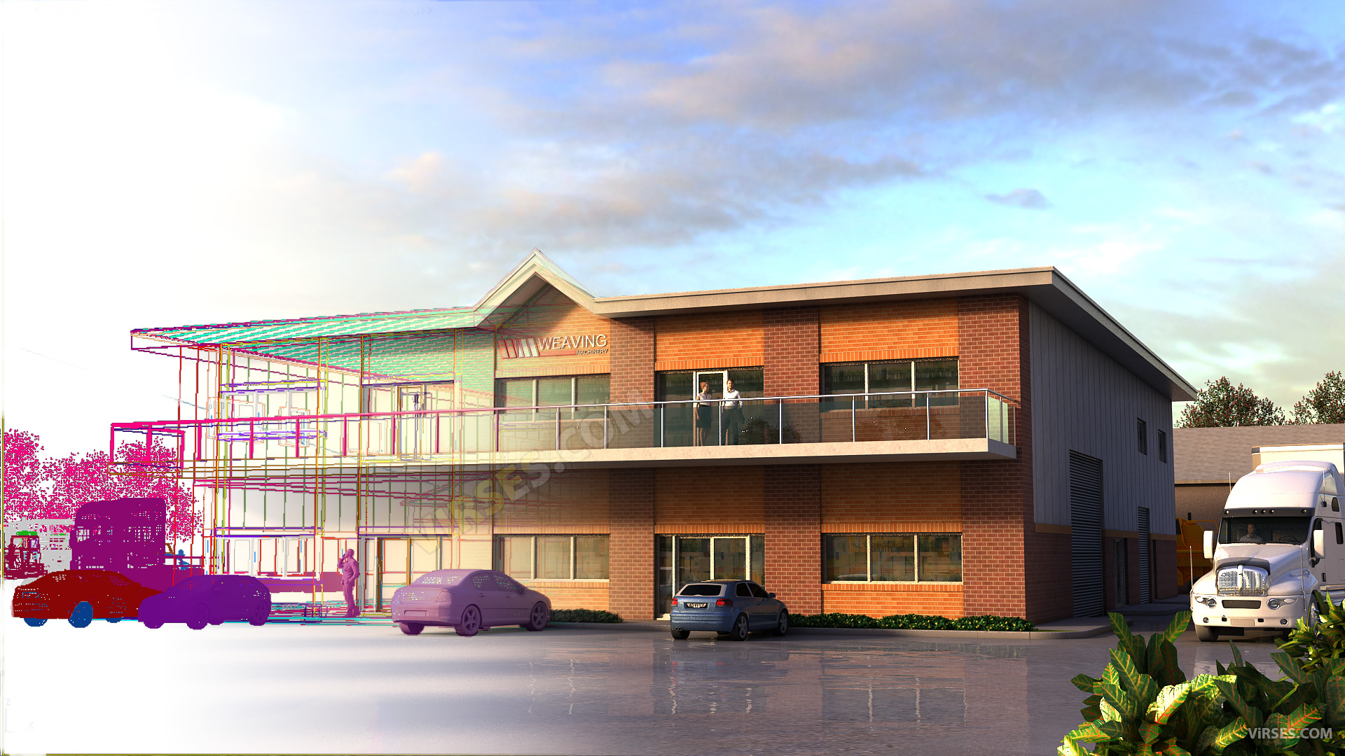 3d architectural rendering process uk