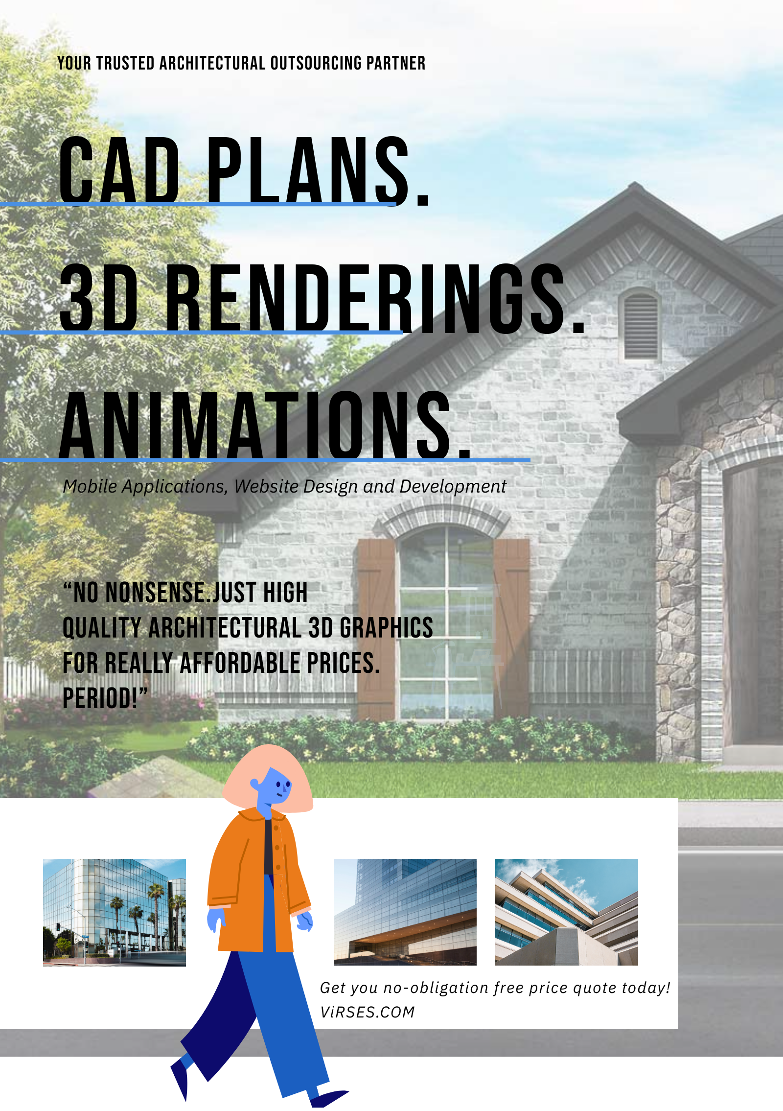 3d rendering architectural infographic