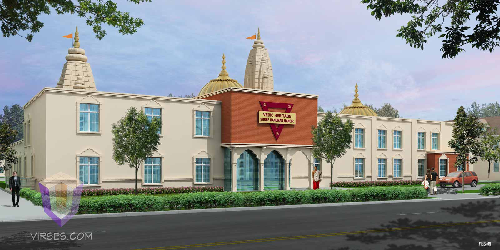 Temple In New York 3D Rendering