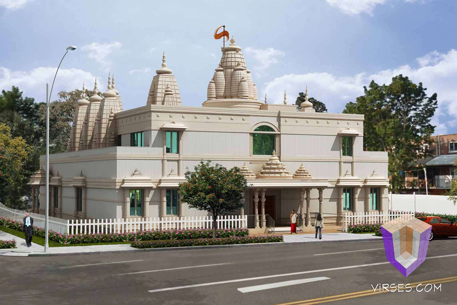 Temple In New York Architectural Rendering