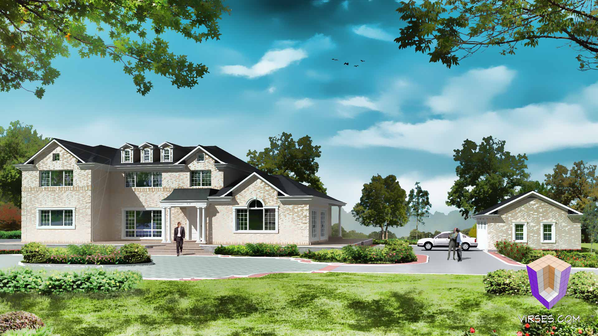 residential 3d exterior and interior renderings