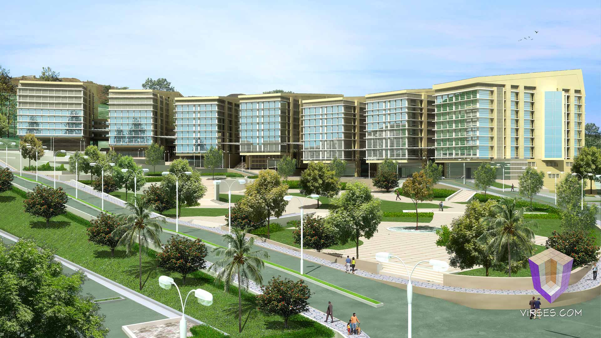 hospital & healthcare 3d renderings