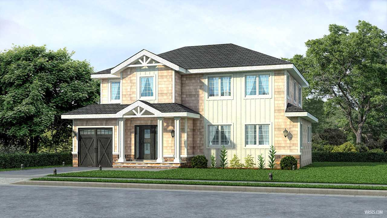 Exterior rendering for House in PlainView NewYork | architectural rendering oursource india