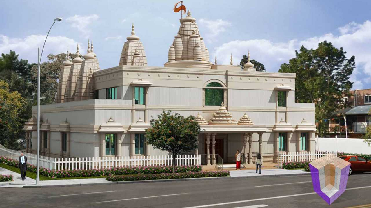 Temple in New York | affordable 3d rendering india