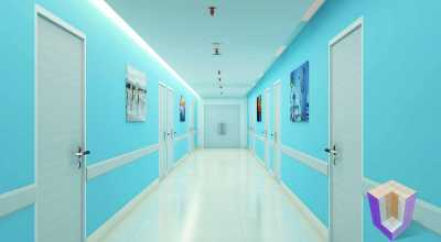Hospital Corridor | Architectural Rendering