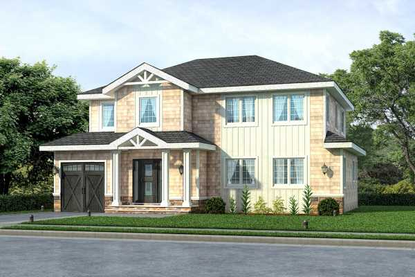 Exterior Rendering For House In Plainview Newyork 3D Architectural Rendering
