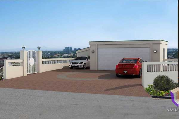 Driveway Addition And Renovation 3D Architectural Rendering