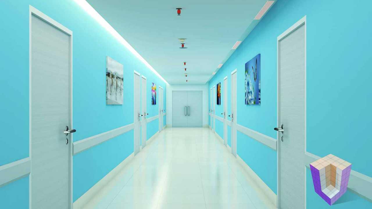 Hospital Corridor   Architectural Visualization