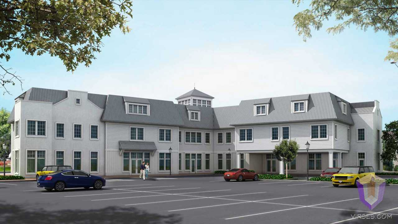 Commercial center at Long Island | 3D View