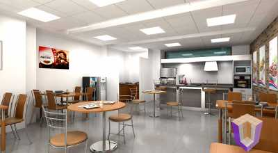 Cafe interiors | 3D View