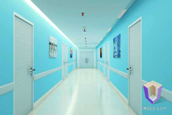 Hospital Corridor Architectural Visualization