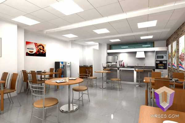 Cafe Interiors Architectural Rendering